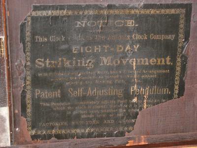 Backboard label