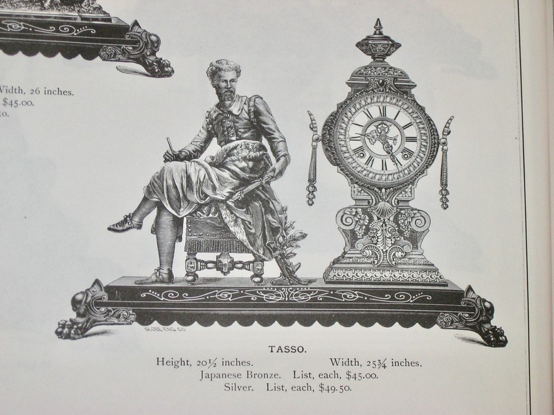 Catalog page showing this clock
