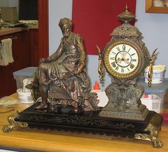 """Ansonia """"Tasso"""" Figure Clock"""