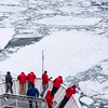 Cruising through icebergs in the Weddell Sea along the eastern coast of Seymour Island.<br /> <br /> Seymour Island lies  near the northern tip of Graham Land,  that part of the Antarctic Peninsula nearest to South America.