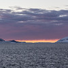 Midnight voyage on the Antarctic Sound between the Tabarin Peninsula and Joinville Island. Antarctica.