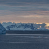Lemaire Channel @ 10:30 PM near Bryde Island.  Antarctic Peninsula, Antarctica.