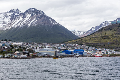 Ushuaia, Argentina from the Beagle Channel.  Ushuaia is the southernmost city in the world.
