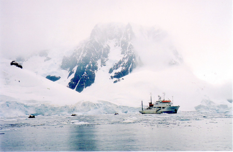 Russian icebreaker, Professor Multanovskiy, in Antarctic