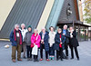 Some of the attendees outside the Museum: Ken Thomas, Mike Tarver, Judy Skelton, Wendy Driver, Anne Strathie, Carmel O'Farrell, Alice Cochran, David Hirzel and Sally Larsen.
