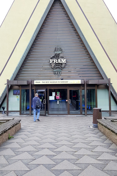 Entrance to the Fram Museum.