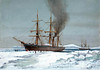 HMS Discovery Forcing a Passage Through the Ice<br /> <br /> Artist: William Frederick Mitchell<br /> Date: c1901<br /> Item No: PAD9501<br /> Neg No: PU9501<br /> <br /> This watercolour shows HMS Discovery forcing a passage through the ice.