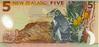 New-Zealand-Dollar-NZD-5-bank-note-2003-issue-Campbell-Island-Hoiho-penguin-sub-antarctic-lily-bull-kelp-Pleurophyllum-speciosum-back-KAR
