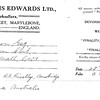 Francis Edwards bill for Aurora Australis, £3. Dated 28 August 1930. Dartmouth College. Copy 3.