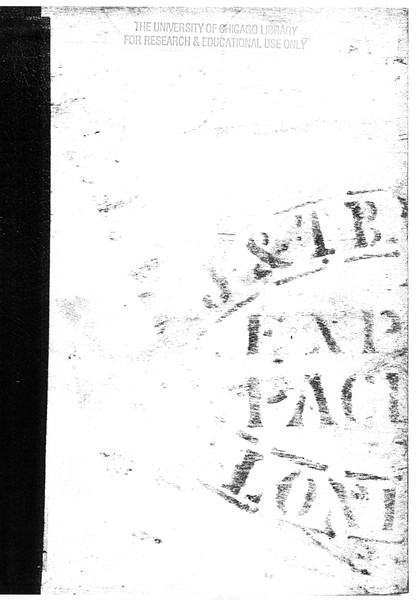 Inner bottom board with stenciling. University of Chicago. Copy 10.