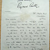 Letter from Raymond Priestley to the Master, dated March 3, 1970. Christ's College Cambridge. Copy 11. 2/2.