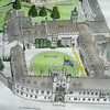 Plan of Christ's College with Library on the right. Christ's College Cambridge. Copy 11.