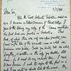 Letter from Raymond Priestley to the Master, dated March 3, 1970. Christ's College Cambridge. Copy 11. 1/2.