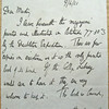 Letter from Raymond Priestley to the Master, dated June 9, 1921. Christ's College Cambridge. Copy 11. 1/2.