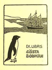 The bookplate of Gösta Bodman. Provided by Cameron Treleaven.