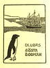 The bookplate of Gösta Bodman. Provided by Cameron Treleaven.