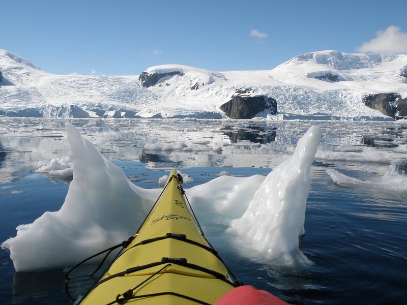 In the brash ice
