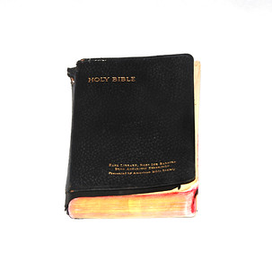 Bible from Byrd's Little America.  Photo by UNH.