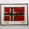 Norwegian flag that Amundsen took to the South Pole and over the North Pole. Byrd gave it to Lincoln Ellsworth who gave it to Beekman Pool who gave it to Robert Stephenson. Photo by UNH.