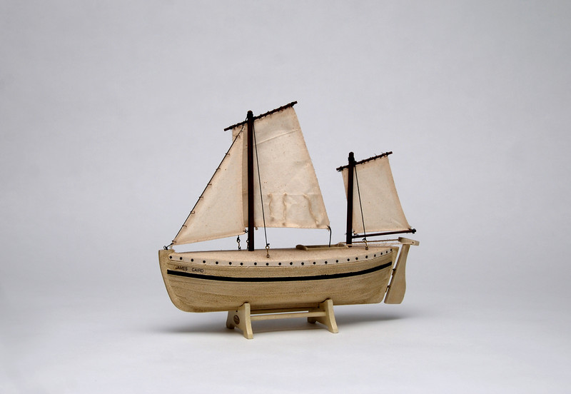Model of the James Caird.  Photo by UNH.