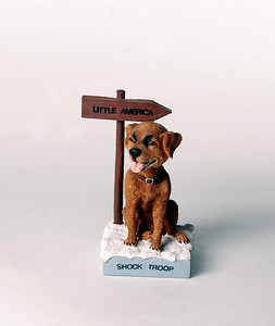 Bobble-head of Chinook, the New Hampshire state dog.  Photo by UNH.