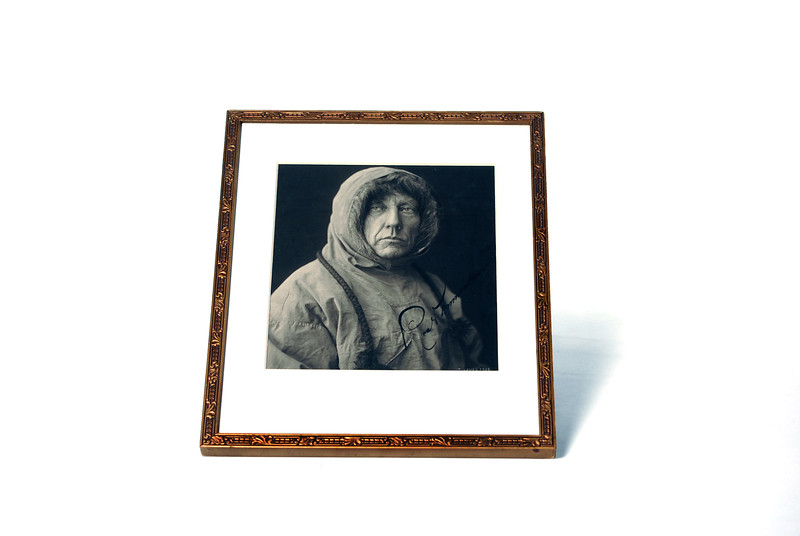 Autographed photograph of Roald Amundsen. Photo by UNH.