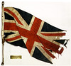 Christie's sale. Lot 394, Sale 7073, 21 September 2005.<br /> Union Jack from the Quest. <br /> 153 <br /> SIR ERNEST HENRY SHACKLETON (1874-1922) <br /> A Union Jack Flag presented to Shackleton by King George V in September, 1921 <br /> with a plaque inscribed: 'Flag presented by His Majesty King George V/to the Shackleton-Rowett Expedition Sept. 1921/on its return/given by His Majesty to John Quiller Rowett/Oct. 1922.'<br /> framed and glazed <br /> 32 x 35in. (H1.4 x 88.9cm.) <br /> Shackleton sailed on the Quest in 1921 on his fourth expedition to the Antarctic, intending to circumnavigate the Antarctic continent. The Quest reached South Georgia on the 4th January 1922 and Shackleton died from a heart attack the following day. He was buried at the Whaling Station of Grytviken, South Georgia, and the expedition went on under Wild's command before returning prematurely to England in June. <br /> £ 4,000-6,000 <br /> US$6, 700-10,000 <br /> Sold for £14,950<br /> UnionJackFromQuest.jpg<br /> <br /> Also Christie's Exploration and Travel Sale #7261. 27 September 2006. Lot 228. Sold for £31,200