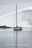 French-yacht-in-snow-storm,-Almirante-Brown,-Antarctic -Peninsula