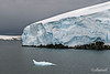 Seal-shaped-small-iceberg,-Gerlache-Strait,-Antarctic Peninsula