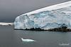 Seal-shaped-small-iceberg,-Gerlache-Strait,-Antarctic Peninsula