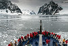 Le-Diamant-entering-Gerlache-Strait,-Antarctic Peninsula