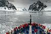 Le-Diamant-entering-Gerlache-Strait,-Antarctic Peninsula