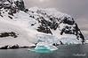 Small-turquoise-iceberg,-Gerlache-Strait,-Antarctic Peninsula