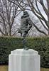 013. Statue of Richard E. Byrd, sculpted by Felix de Weldon. Avenue of Heroes, Arlington National Cemetery, Artlington, VA, USA.