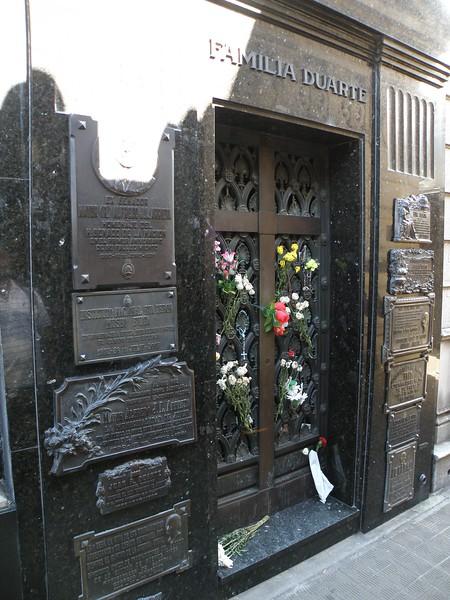 Tomb of María Eva Duarte de Perón