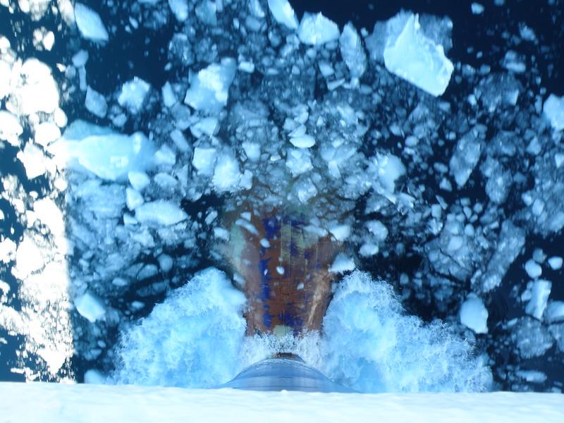 Cruising through brash ice