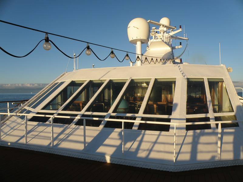 Observation deck on the Ocean Diamond