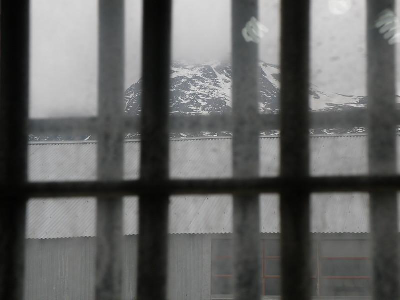 View behind bars
