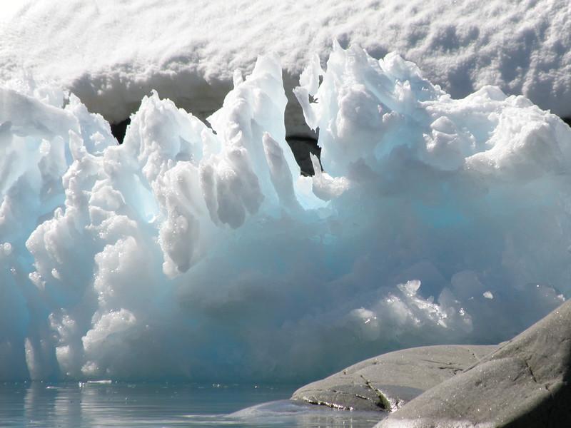 Wafer thin iceberg