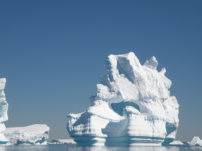 Cavernous iceberg