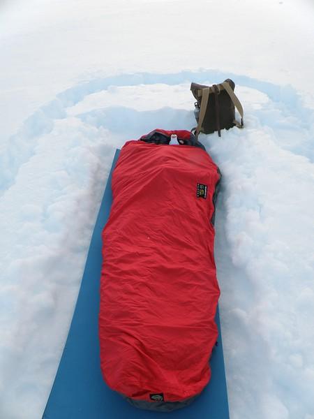 Bivouac sack setup