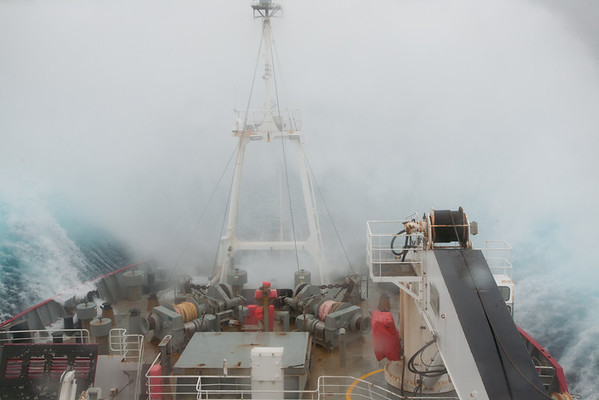 RRS James Clark Ross in rough weather