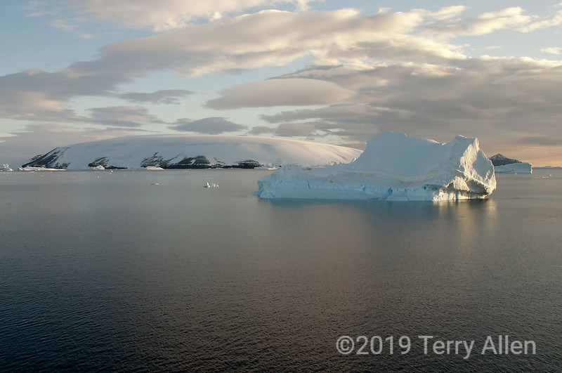Dundee-Island-blue-iceberg,-Antarctic-Sound
