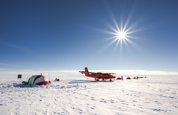 Camp at Theils Depot, 85º, Antarctica