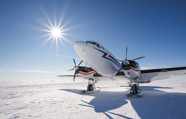 DC-3 at Theils Depot, S85º, Antarctica