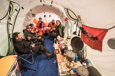 Mess tent at Theils Depot, S85º, Antarctica