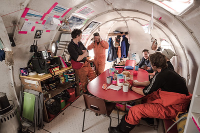 Comms 'Melon hut', Sky Blu depot, Antarctica