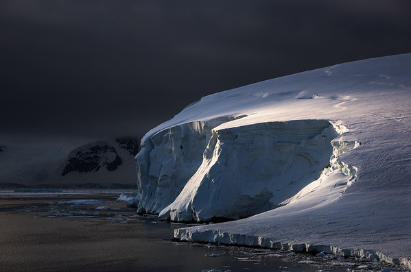 Ice cliffs by Rothera, Adelaide Island, Antarctica