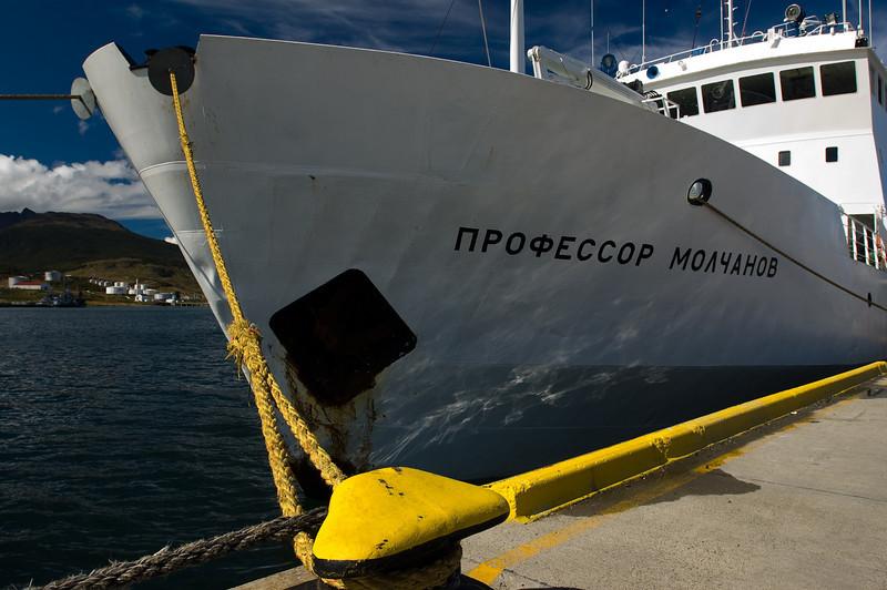 Our ship, the Professor Molchanov