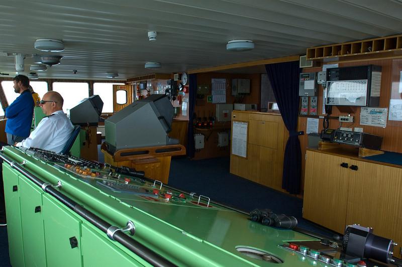 On the Ship's Bridge